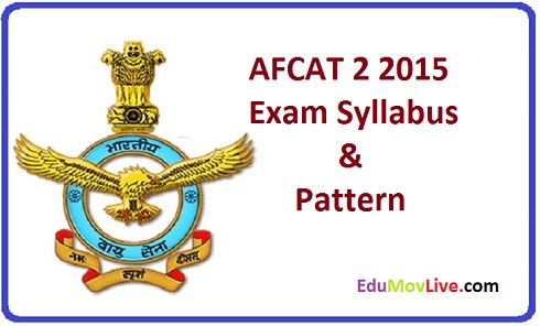 AFCAT 2 2015 Exam Syllabus