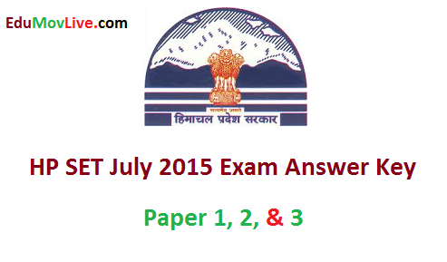 HP SET Answer Key 2015