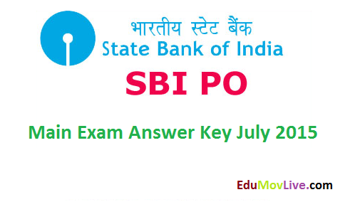 SBI PO Main Answer Key 2015