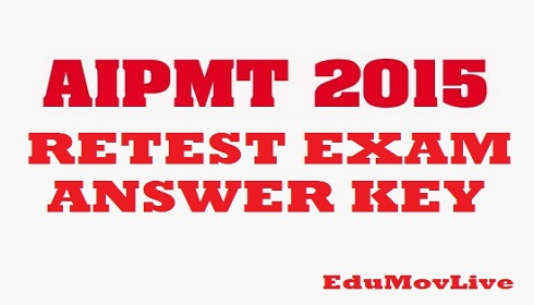 AIPMT 2015 Retest Answer key