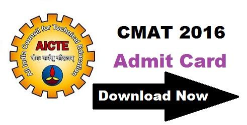 CMAT 2016 Admit Card