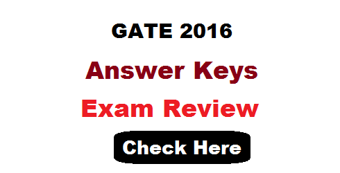 GATE 2016 Answer Key