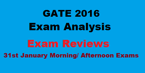 GATE 2016 Exam Analysis