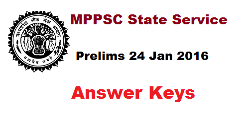MPPSC State Service Prelims Answer Key 2016