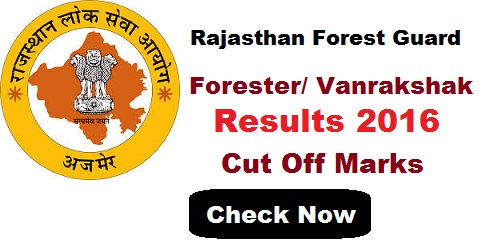 Rajasthan Forest Guard Result 2016