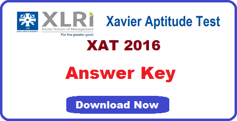 XAT 2016 Answer Key