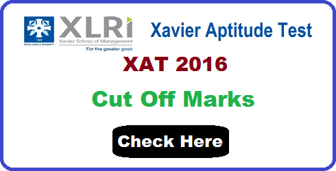 XAT 2016 Cut Off Marks