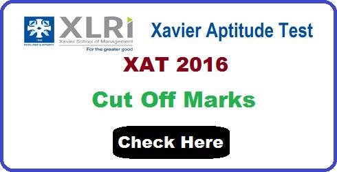 XAT 2016 Cut Off Marks