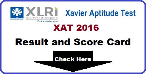 XAT 2016 Result