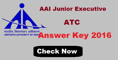AAI Junior Executive ATC Answer Key 2016
