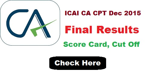 ICAI CA CPT Final Result 2015