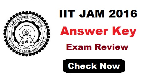 IIT JAM Answer Key 2016
