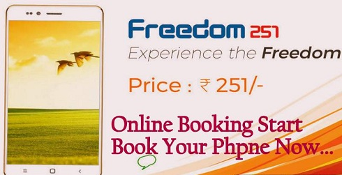 Freedom 251 Smartphone Booking