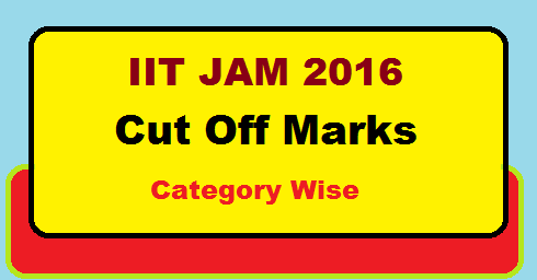 IIT JAM 2016 Cut Off Marks