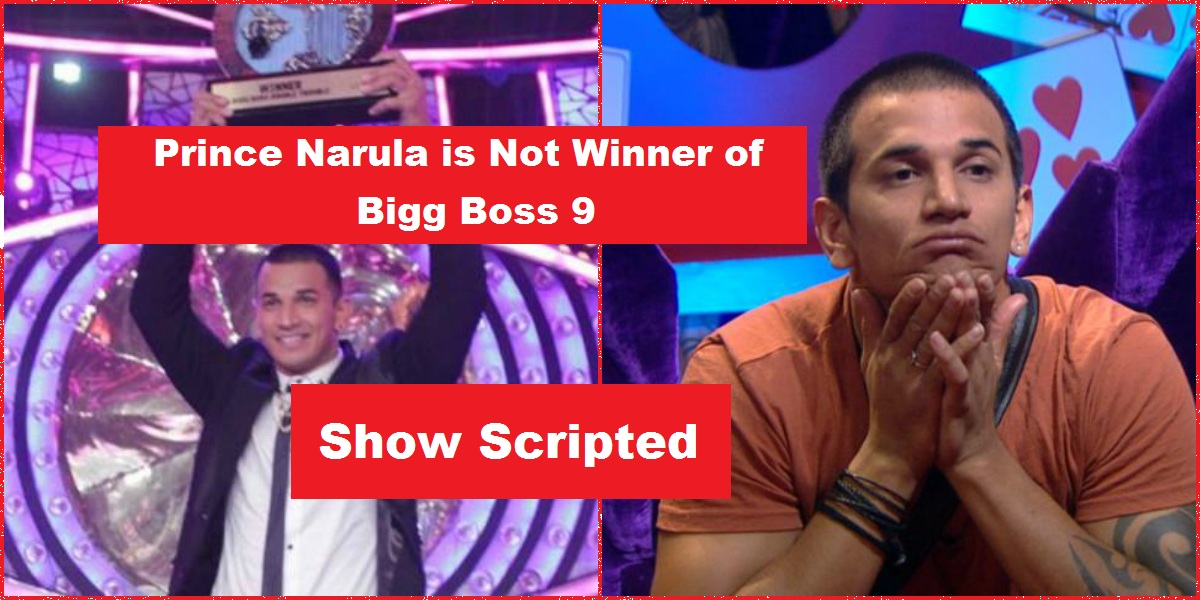 Prince Narula Is Not Actual Winner of Bigg Boss