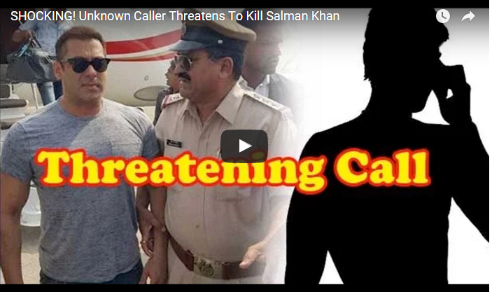 An Anonymous Phone Caller Threatens to Kill Salman Khan