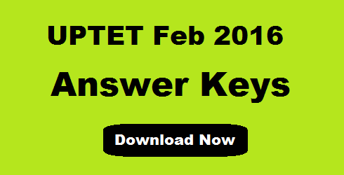 UPTET Answer Key 2016