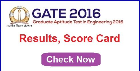 gate 2016 result
