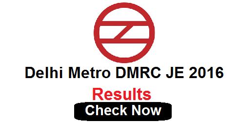 Delhi Metro DMRC JE Result 2016