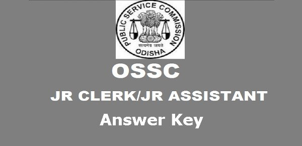 OSSSC Junior Clerk Answer Key 2016