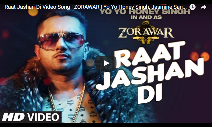 Raat Jashan Di Video Song Out of ZORAWAR Movie