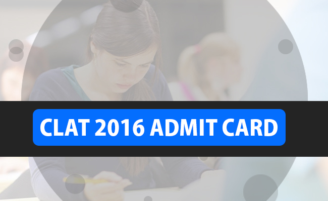 clat 2016 admit card