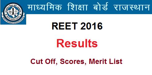 Rajasthan REET 2016 Result