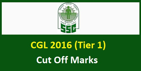 SSC CGL Tier 1 Cut Off Marks 2016