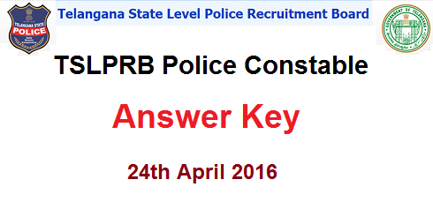 Telangana Police Constable Answer Key 2016