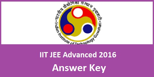 IIT JEE Advanced 2016 Answer Key