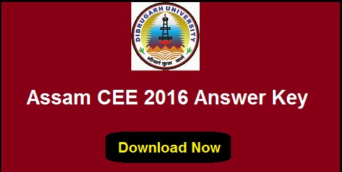 Assam CEE 2016 Answer Key