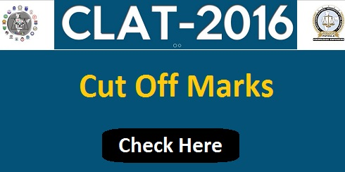 CLAT Cut Off Marks 2016
