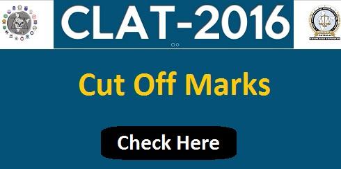 CLAT Cut Off Marks 2016