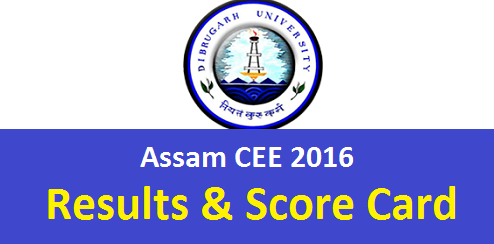 Assam CEE 2016 Result