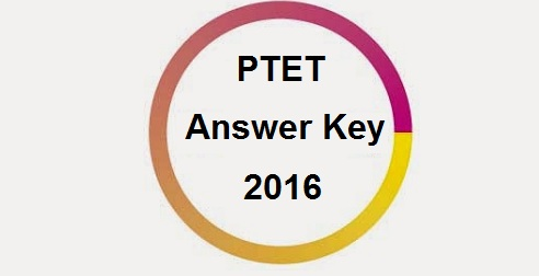PTET Answer key 2016