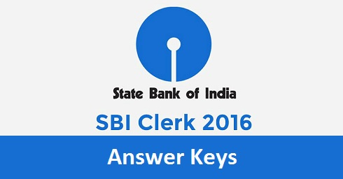 SBI Clerk Prelims Answer Key 2016
