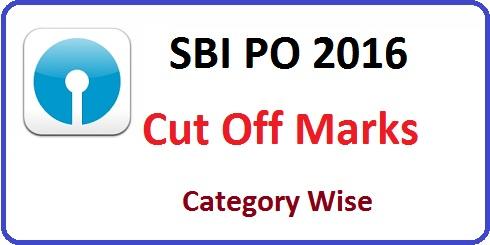 SBI PO Prelims Cut Off Marks 2016