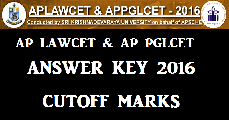 AP LAWCET Answer Key 2016 | AP PGLCET Answer Key 28th May 2016