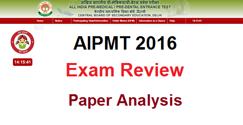 AIPMT 2016 Review