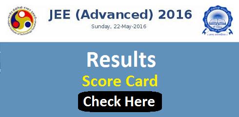 IIT JEE Advanced 2016 Result