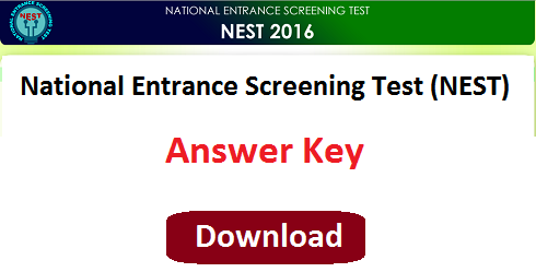 NISER NEST 2016 Answer Key