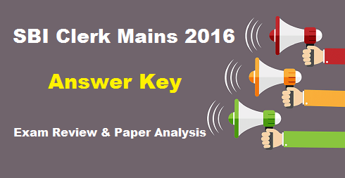 SBI Clerk Mains Answer Key 2016