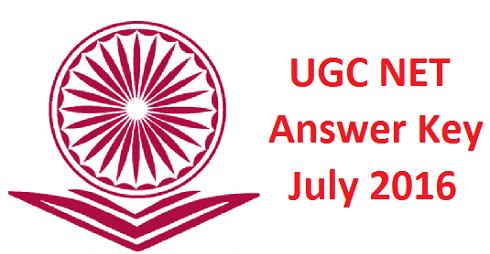 CBSE UGC NET July 2016 Answer Key