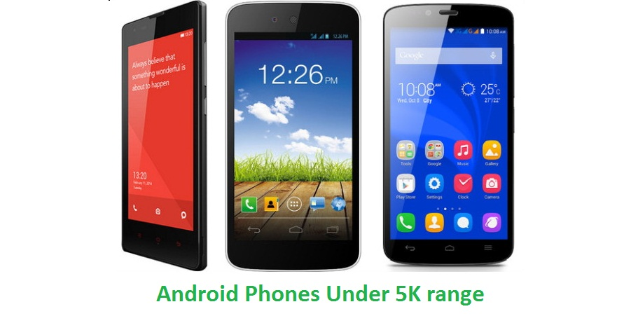 android phones under 5000
