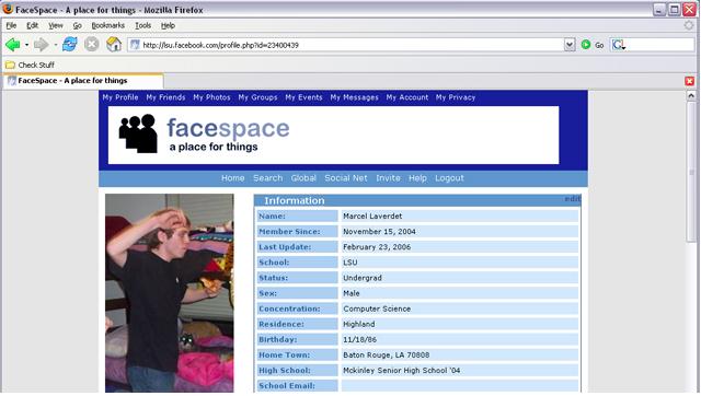 facespace- chris putnam hack facebook