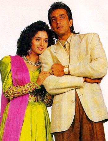 Madhuri Dixit and Sanjay Dutt