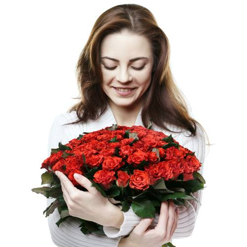 flowers surprise for her
