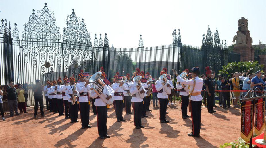 Guards changing ceremony at Rashtrapati Bhavan