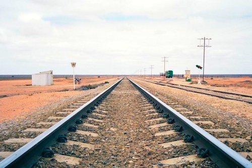 Straight Railway Track Australia