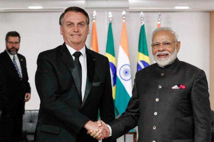 Narendra Modi and Jair Bolsonaro